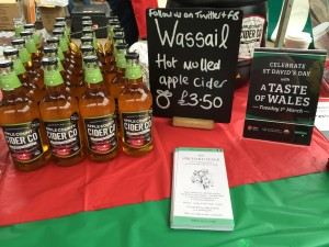 Apple County Cider stall at Partridges Saturday Market